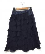 tricot COMME des GARCONS(トリココムデギャルソン)の古着「切替ティアードスカート」 ネイビー