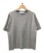LE CIEL BLEU(ルシェルブルー)の古着「Cotton Knit Tee」 グレー