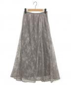 REKISAMI(レキサミ)の古着「チュールレーススカート」|グレー