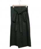 uncrave(アンクレイヴ)の古着「チノラップスカート」 グリーン