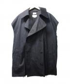 YOKE(ヨーク)の古着「トレンチベスト」 ブラック