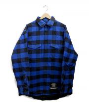 nano・universe(ナノユニバース)の古着「西川ダウンライナーシャツジャケット」|ブルー×ブラック