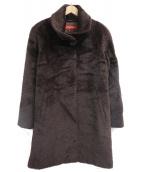 MAX MARA STUDIO(マックスマーラストゥディオ)の古着「アルパカウールシャギーコート」|ブラウン