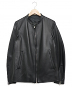 SHIPS JET BLUE(シップスジェットブルー)の古着「シングルライダースジャケット」 ブラック