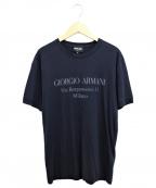 GIORGIO ARMANI(ジョルジョアルマーニ)の古着「ロゴプリントTシャツ」|ネイビー