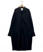 JUN MIKAMI(ジュン ミカミ)の古着「ALUMO COTTON SHIRT ONE-PIECE」 ブラック