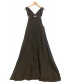 ()の古着「ツイードマキシジャンパースカート」 ブラウン