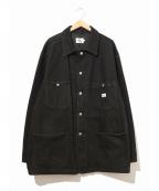 Calvin Klein Jeans(カルバンクラインジーンズ)の古着「[古着]90'sブラックダックカバーオール」 ブラック