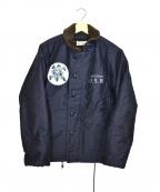 PHERROW'S(フェローズ)の古着「N-1カスタムデッキジャケット」|ネイビー
