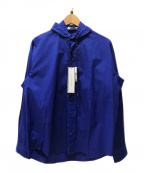 JOHN LAWRENCE SULLIVAN()の古着「コットンフーデッドシャツ」 ブルー