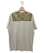 Maison Martin Margiela(メゾンマルタンマルジェラ)の古着「エイズTシャツ」|カーキ