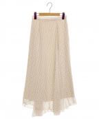CELFORD(セルフォード)の古着「バイヤス切り替えスカート」|ベージュ