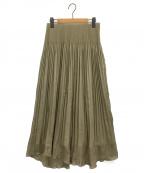 CELFORD()の古着「楊柳プリーツスカート」|オリーブ