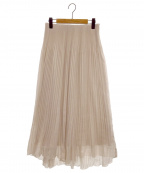 CELFORD()の古着「楊柳プリーツスカート」|ベージュ