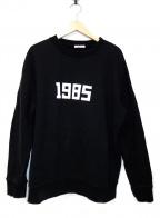 CLANE HOMME()の古着「1985プリントスウェット」 ブラック