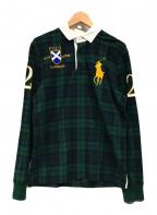 POLO RALPH LAUREN(ポロ・ラルフローレン)の古着「ラガーシャツ」 グリーン