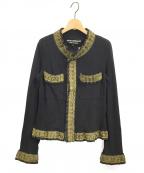 JUNYA WATANABE COMME des GARCON(ジュンヤワタナベ コムデギャルソン)の古着「ブレード刺繍ジャケット」|ブラック