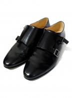 FABIO RUSCONI(ファビオルスコーニ)の古着「モンクストラップシューズ」 ブラック