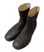 wjk(ダブルジェイケー)の古着「スエードバックジップブーツ」|ブラック