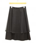 noir kei ninomiya(ノワール ケイ ニノミヤ)の古着「チュールレイヤードスカート」|ブラック