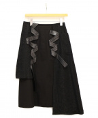 noir kei ninomiya(ノワール ケイ ニノミヤ)の古着「アシンメトリースカート」|ブラック