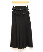JUNYA WATANABE COMME des GARCONS(ジュンヤワタナベ コムデギャルソン)の古着「パラシュートベルトデザインスカート」|ブラック