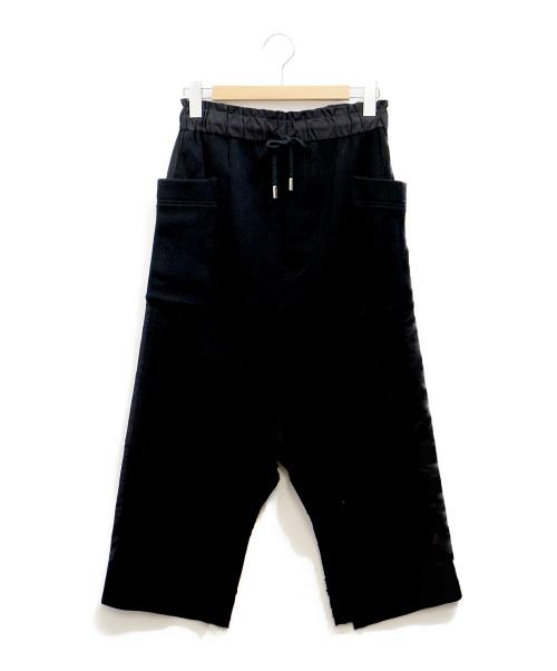 ayumi.mitsukane(アユミミツカネ)ayumi.mitsukane (アユミミツカネ) ダブルフェイスニットスカート ブラック サイズ:38の古着・服飾アイテム