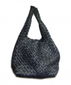 FALORNI(ファロルニ)の古着「イントレチャートハンドバッグ」|ネイビー