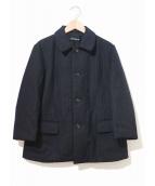 tricot COMME des GARCONS(トリコ コムデギャルソン)の古着「[OLD]ストライプ中綿ジャケット」|ネイビー