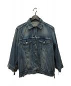 ()の古着「ジップデザインデニムジャケット」|インディゴ