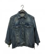 sacai(サカイ)の古着「ジップデザインデニムジャケット」|インディゴ