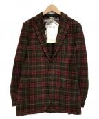DEPETRILLO(デペトリロ)の古着「ツイードチェックジャケット」|ブラウン×レッド