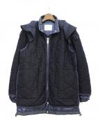 sacai(サカイ)の古着「レイヤードパターンダウンキルトジャケット」|ネイビー
