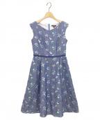 TOCCA(トッカ)の古着「LITTLE BOUQUETドレス」|ブルー