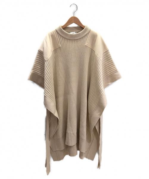 HYKE(ハイク)HYKE (ハイク) コマンドセーターポンチョ オートミール サイズ:Fの古着・服飾アイテム