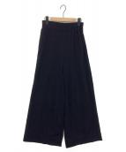 MUSE de Deuxieme Classe(ミューズ ドゥ ドゥーズィエム クラス)の古着「Jerseyワイド パンツ」|ブラック