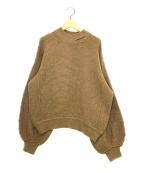 MAISON FLANEUR(メゾン フラネウール)の古着「チャンキーセーター」 キャメル