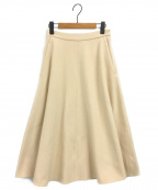 martinique()の古着「ウールフレアスカート」|クリーム