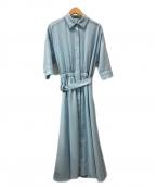 AMACA(アマカ)の古着「ナチュラルドライストレッチワンピース」 ブルー