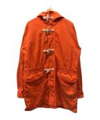 GLOVER ALL(グローバーオール)の古着「コットンダッフルコート」|オレンジ