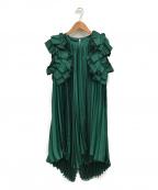 REKISAMI(レキサミ)の古着「プリーツワンピース」|グリーン