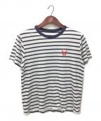 lucien pellat-finet(ルシアン・ペラフィネ)の古着「ボーダーTシャツ」|ネイビー×ホワイト