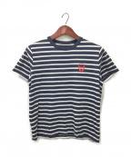 lucien pellat-finet(ルシアン・ペラフィネ)の古着「ボーダーTシャツ」|ホワイト×ネイビー