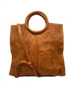 Carving Tribes()の古着「2WAYトートバッグ」|ブラウン
