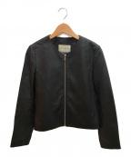 UNITED ARROWS(ユナイテッドアローズ)の古着「シングルライダースジャケット」|ブラック