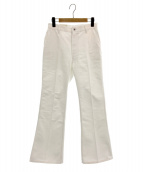 JUN MIKAMI(ジュン ミカミ)の古着「フレアデニムパンツ」|ホワイト