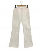 JUN MIKAMI(ジュン ミカミ)の古着「フレアデニムパンツ」 ホワイト