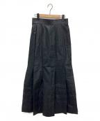 pelleq(ペレック)の古着「tucked long skirt」 ブラック