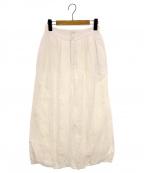 FUMIKA UCHIDA(フミカ ウチダ)の古着「シルクリネンバルーンロングスカート」|オフホワイト