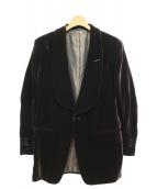 TOM FORD(トム フォード)の古着「1Bベロアジャケット」|ブラウン